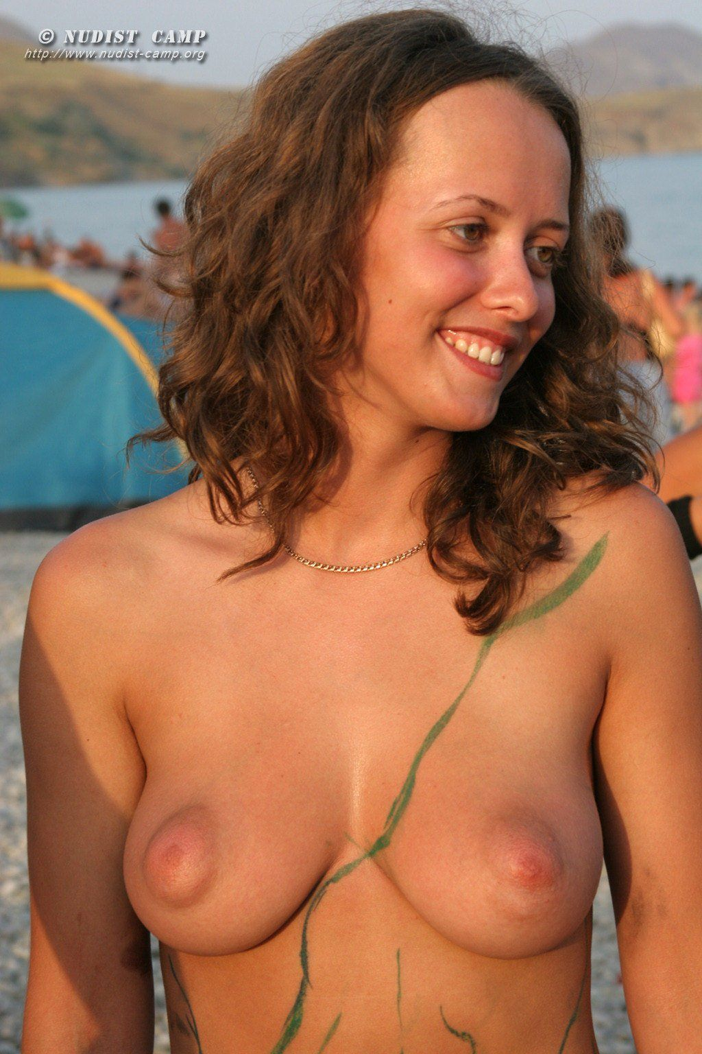 Nudist camp with pictures of very bushy women