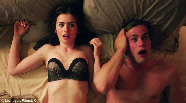 Super hot sexy nude lily collins