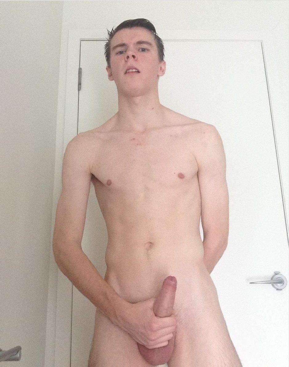 Teenage men fully nude